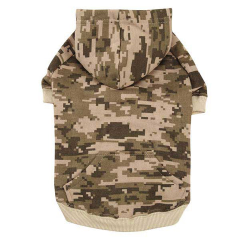 Casual Canine Digital Camo Dog Hoodie-DOG-Zack & Zoey-XX-SMALL-GREEN-Pets Go Here
