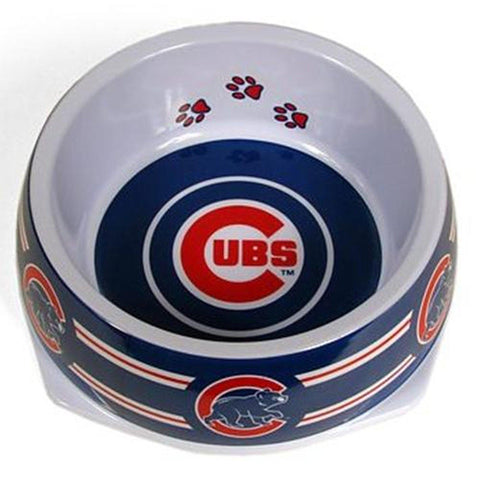 Chicago Cubs Dog Bowl-DOG-Sporty K9-Pets Go Here dc, l, m, mlb, s, sports, sports bowl, sporty k9 Pets Go Here, petsgohere