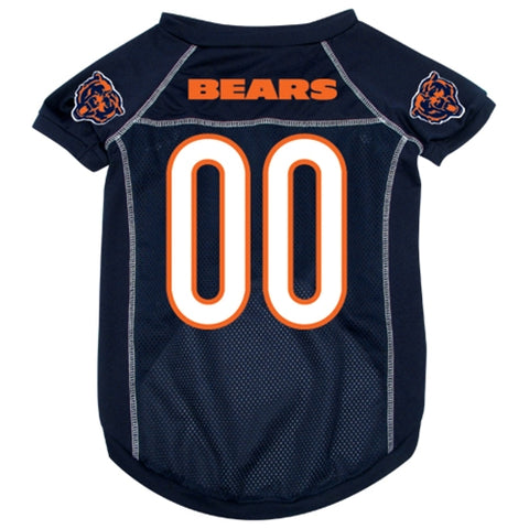 NFL Chicago Bears Pet Dog Jersey WHITE TRIM jersey, navy, nfl, nfl jersey, sports, sports jersey, white thread Pets Go Here, petsgohere