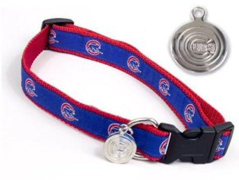 MLB Chicago Cubs Dog Collar EMBROIDERED S