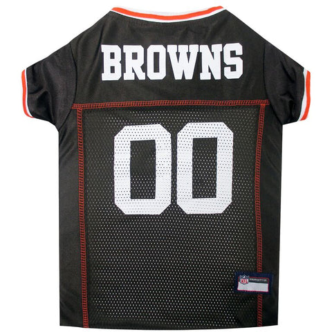 NFL Cleveland Browns Dog Jersey ORANGE TRIM