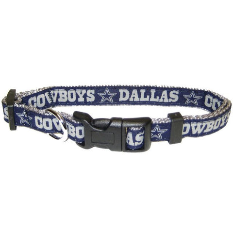 NFL Dallas Cowboys Embroidered Dog Collar hunter, l, m, m/l, nfl, s, s/m, xl, xs Pets Go Here, petsgohere