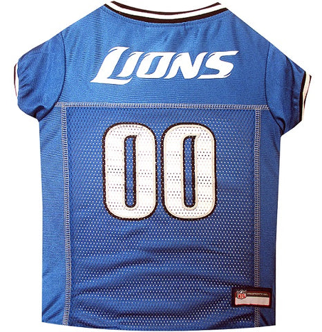 NFL Detroit Lions Dog Jersey BLACK TRIM doggienation, ds, l, m, nfl, s, test, xl, xs Pets Go Here, petsgohere