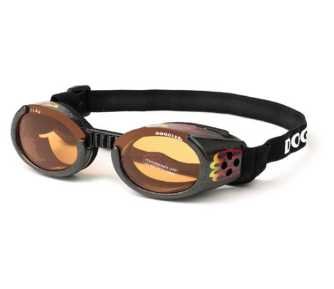 Doggles Dog Sunglasses BLACK RACING FLAMES FRAMES accessories, doggles, eye, goggles, l, m, orange, red, s, sunglasses, xl, xs Pets Go Here, petsgohere