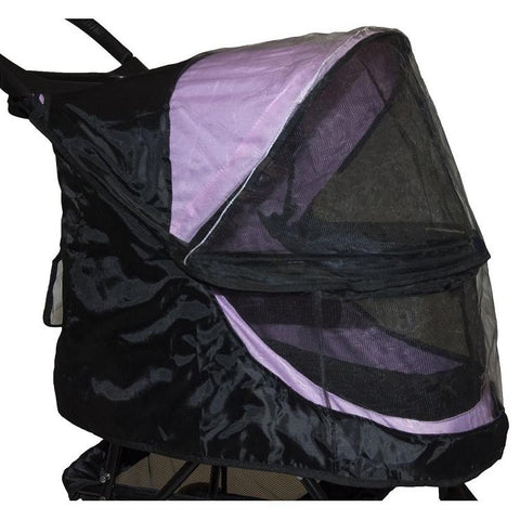 Pet Gear No-Zip Happy Trails Pet Stroller Weather Cover-DOG-Pet Gear-BLACK-Pets Go Here