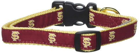 NCAA Florida State University Seminoles Dog Collar EMBROIDERED mlb, nba, ncaa, nylon, pet goods, sports, sports collar Pets Go Here, petsgohere