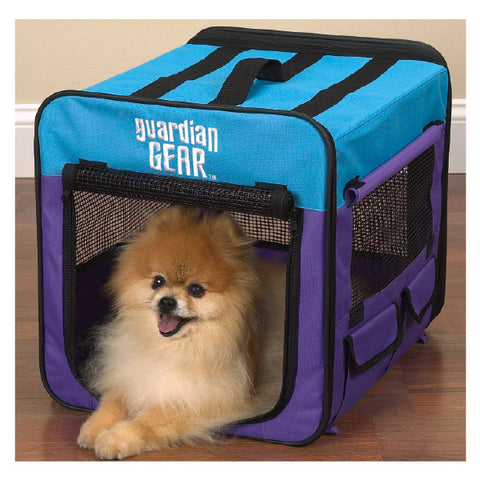 Guardian Gear Collapsible Dog and Puppy Crate PURPLE/Turquoise