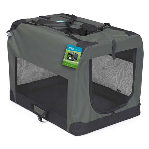 Guardian Gear Collapsible Pet Crate GRAY