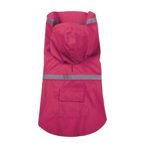 Guardian Gear Dog Raincoat Jacket w/ Reflective Stripe RASPBERRY PINK XXS