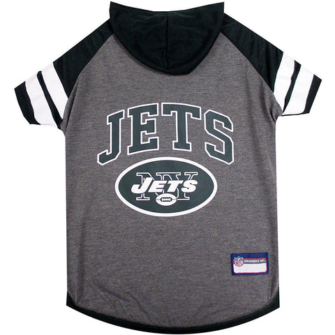 New York Jets Dog Hoodie Shirt-DOG-Pets First-LARGE-Pets Go Here l, m, nfl, pets first, s, sports, sports shirt, test, xl, xs Pets Go Here, petsgohere