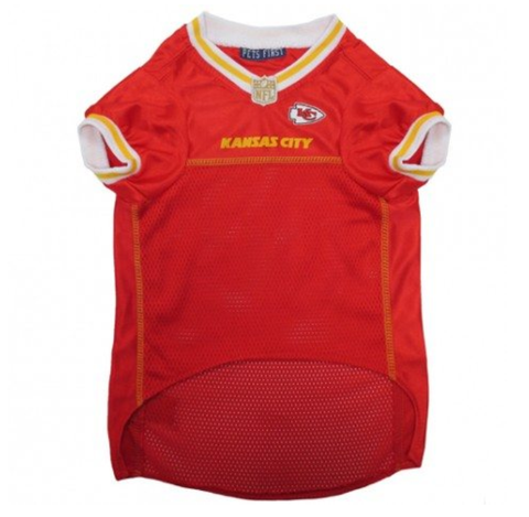 NFL Kansas City Chiefs Dog Jersey YELLOW TRIM doggienation, ds, hunter, jersey, l, m, nfl, s, sports, sports jersey, xl, xs Pets Go Here, petsgohere