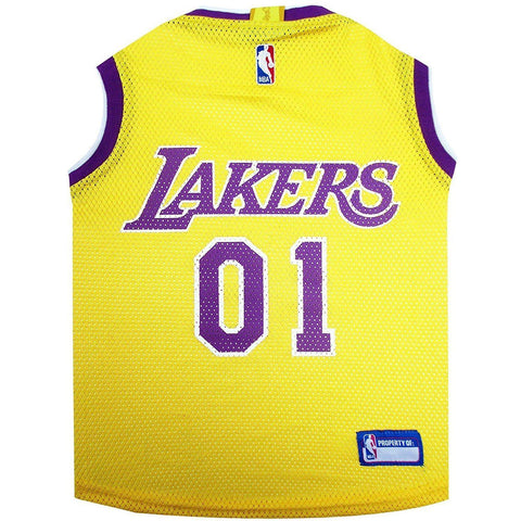 Los Angeles Lakers Dog Jersey 2-DOG-Pets First-LARGE-Pets Go Here