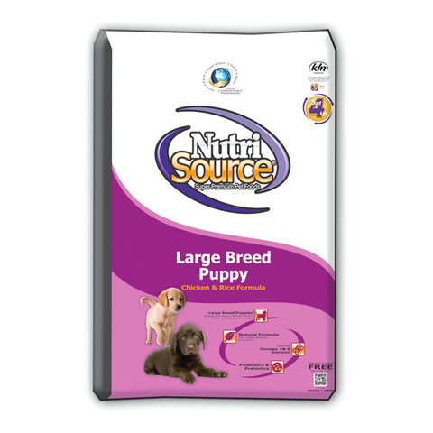 NutriSource Breed Puppy CHICKEN & Rice Formula Dog Food 18 LB-DOG-NutriSource-18 Lb-Pets Go Here 6.6 lb, adult, chicken, food, organic Pets Go Here, petsgohere