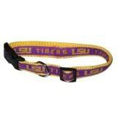 LSU Tigers Dog Collar-Pets Go Here-SMALL-Pets Go Here ds, ncaa, ncaa collar, ncaa dog collar, sports, sports collar Pets Go Here, petsgohere
