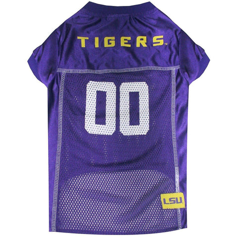 LSU Tigers Dog Jersey-DOG-Pets First-X-SMALL-Pets Go Here doggienation, ds, jersey, l, m, ncaa, ncaa jersey, pets first, s, sports, sports jersey, xl, xs Pets Go Here, petsgohere