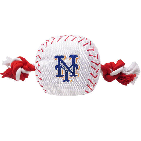 New York Mets Dog Toy w/ Rope-DOG-Pets First-Pets Go Here mlb, nylon, pet toy, pets first, sports toy, toy Pets Go Here, petsgohere