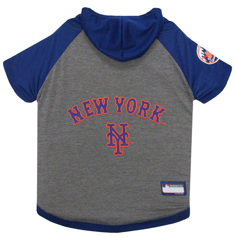 New York Mets Dog Hoodie Shirt-DOG-Pets First-LARGE-Pets Go Here