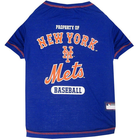 New York Mets Dog Shirt-DOG-Pets First-X-SMALL-Pets Go Here l, m, mlb, pets first, s, sports, sports shirt, xl, xs Pets Go Here, petsgohere