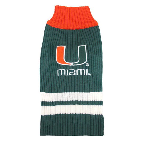Miami Hurricanes Dog Sweater-DOG-Pets First-LARGE-Pets Go Here l, m, ncaa, ncaa sweater, pets first, s, test, xl, xs Pets Go Here, petsgohere