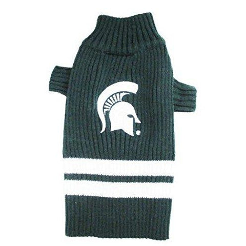 Michigan State Dog Sweater-DOG-Pets First-X-SMALL-Pets Go Here l, m, ncaa, ncaa sweater, pets first, s, xl, xs Pets Go Here, petsgohere
