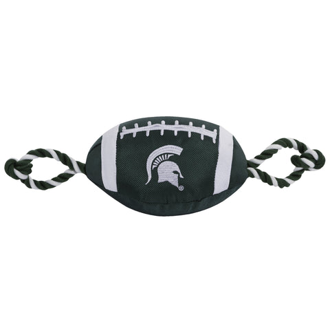 NCAA Michigan State Nylon Football Dog Toy doggienation, ds, ncaa, pets first, sports, sports toys Pets Go Here, petsgohere
