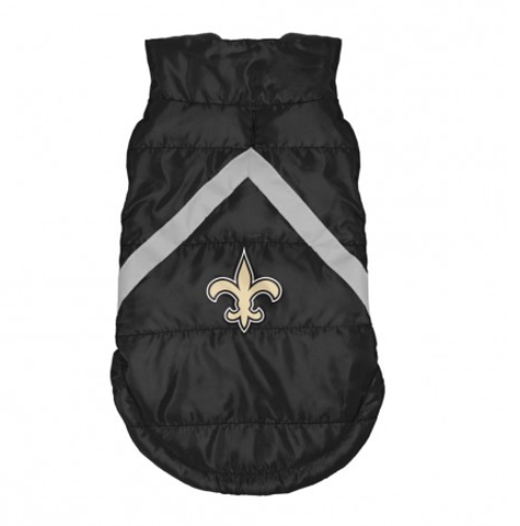 NFL New Orleans Saints Dog Coat hip doggie, l, m, nfl, reflective, s, sports, sports coat, xl, xs Pets Go Here, petsgohere