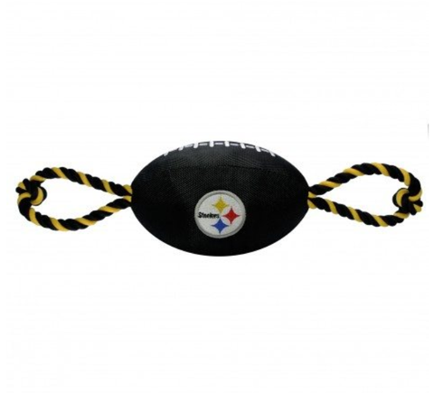 NFL Pittsburgh Steelers Plush Football Dog Toy doggienation, ds, pets first, sports, sports toys Pets Go Here, petsgohere