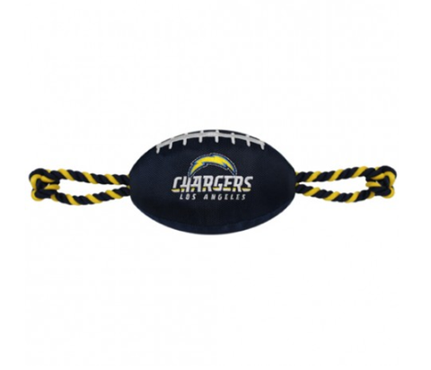 NFL San Diego Chargers Nylon Football Dog Toy doggienation, ds, pets first, sports, sports toys Pets Go Here, petsgohere