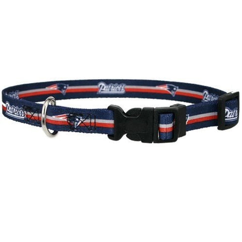NFL New England Patriots Dog Collar hunting, nfl, sports, sports collar, sports collars, test Pets Go Here, petsgohere