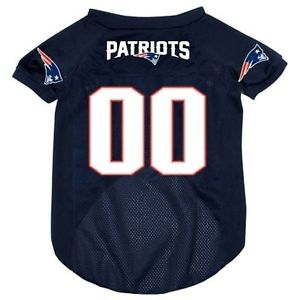 NFL New England Patriots Dog Jersey WHITE THREADING hunter, jersey, l, m, nfl, s, sports, sports jersey, xl, xs Pets Go Here, petsgohere