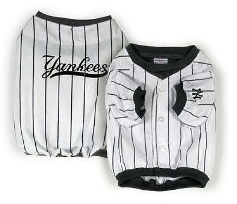 MLB New York Yankees Vintage Dog Jersey WHITE jersey, mlb, mlb jersey, pet goods, sports, sports jersey, white Pets Go Here, petsgohere