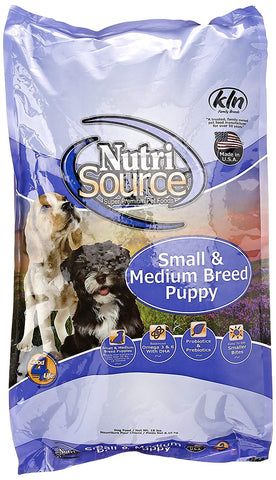 NutriSource Small/Medium Breed Puppy Dog Food CHICKEN & RICE 6.6 lb, chicken, dog, dog food, dry dog food, food, pet meds, pet supplements, white Pets Go Here, petsgohere