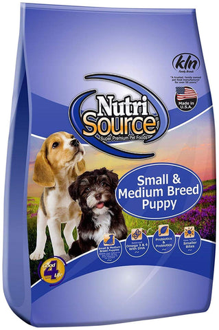 NutriSource Small/Medium Breed Puppy Dog Food CHICKEN & RICE