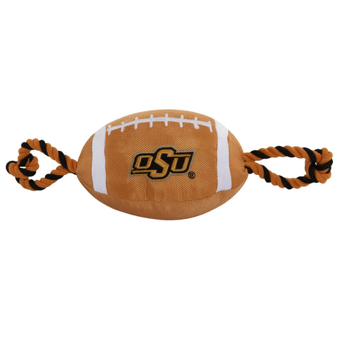 NCAA Oklahoma State Nylon Football Dog Toy doggienation, ds, ncaa, pets first, sports, sports toys Pets Go Here, petsgohere