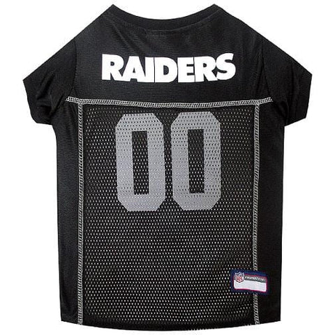 NFL Oakland Raiders Dog Jersey WHITE THREADING doggienation, ds, jersey, l, m, nfl, s, sports, sports jersey, xl, xs Pets Go Here, petsgohere