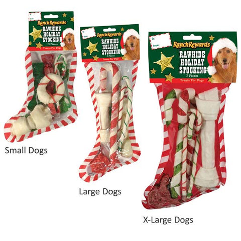 Ranch Rewards Rawhide Holiday Dog Stocking-DOG-Be Good-SMALL-Pets Go Here dog treat, holiday, l, m, rawhide, s, seasonal, treat, xl, xs Pets Go Here, petsgohere