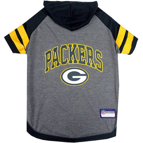 GREEN Bay Packers Dog Hoodie Shirt-DOG-Pets First-LARGE-Pets Go Here green, hunter green, l, m, nfl, pets first, s, sports shirt, test, xl, xs Pets Go Here, petsgohere