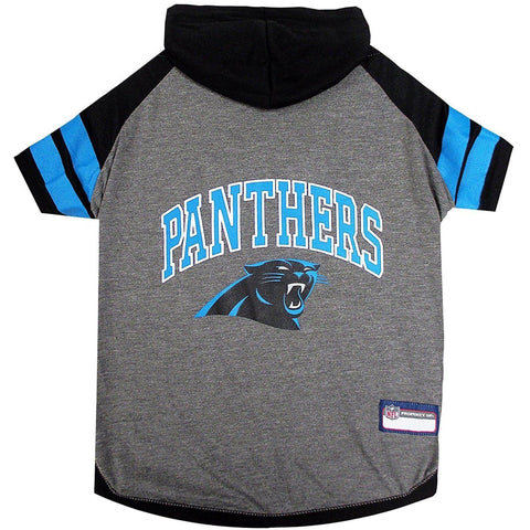 Carolina Panthers Dog Hoodie Shirt-DOG-Pets First-LARGE-Pets Go Here l, m, nfl, pets first, s, sport shirt, sports shirt, test, xl, xs Pets Go Here, petsgohere