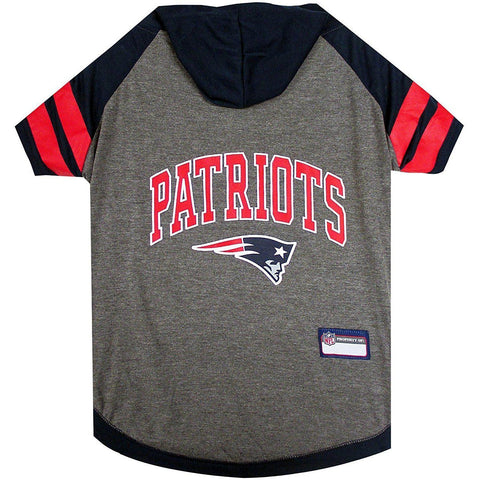 New England Patriots Dog Hoodie Shirt-DOG-Pets First-LARGE-Pets Go Here l, m, nfl, pets first, s, sports shirt, test, xl, xs Pets Go Here, petsgohere