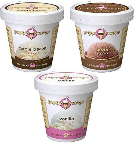 Puppy Cake Smart Scoops Goat's Milk Ice Cream Mix Treats birthday, blueberry, carob, dog, ice cream, maple bacon, peanut butter, puppy cake, treat, vanilla Pets Go Here, petsgohere