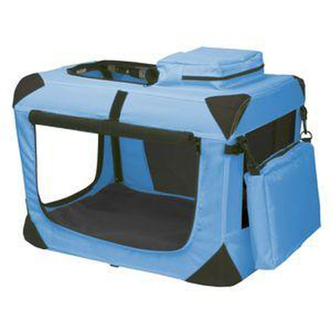 Pet Gear Generation II Deluxe Portable Collapsible Pet Crate-DOG-Pet Gear-XS-OCEAN BLUE-Pets Go Here bed, blue, collapsible, colorful, cover, crate, dog bedding, dog crate, fabric, fleece, l, lavendar, light blue, m, nylon, pet gear, purple, red, royal blue, s, travel, trendy, xl, xs Pets Go Here, petsgohere