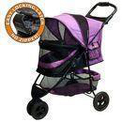Pet Gear No-Zip Special Edition Pet Stroller-DOG-Pet Gear-ORCHID-Pets Go Here bed, black, chocolate, fleece, orchid, outdoor, outdoor pet supplies, pet gear, sage, strolller Pets Go Here, petsgohere