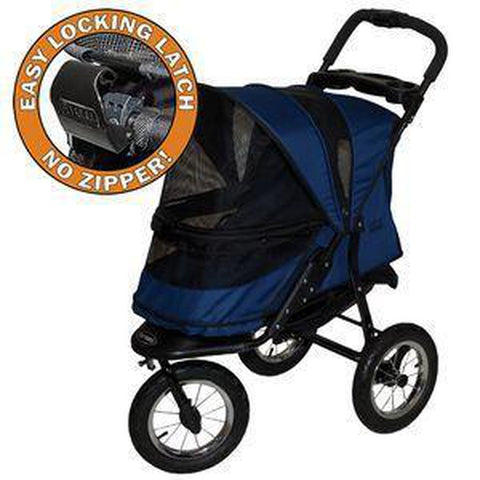Pet Gear No-Zip Jogger Pet Stroller-DOG-Pet Gear-MIDNIGHT RIVER-Pets Go Here green, pet gear, stroller Pets Go Here, petsgohere