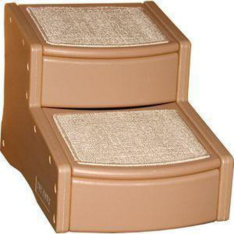 Pet Gear Easy Step II Small Carpeted Pet Stairs-DOG-Pet Gear-TAN-Pets Go Here