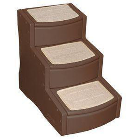 Pet Gear Easy Step III Carpeted Pet Stairs-DOG-Pet Gear-CHOCOLATE-Pets Go Here