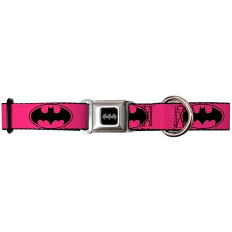 Buckle Down Batman Dog Collar PINK-DOG-Buckle Down-LARGE-Pets Go Here buckle down, cartoon, character, collar, dog collar, fashionable, l, m, movie, new, nylon, pet collar, pink, s, seatbelt, test, trendy, tv show, xl, xs Pets Go Here, petsgohere