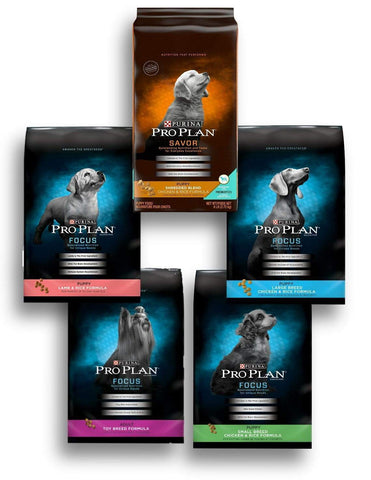 Purina Pro Plan FOCUS Dry Dog Food PUPPY amazon, rice, salmon, senior, sensitive skin, sensitive stomach, small breed, toy breed, weight management Pets Go Here, petsgohere