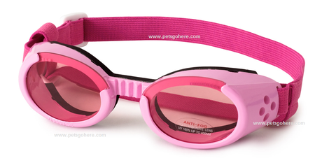 Doggles Dog Sunglasses PINK FRAMES XS