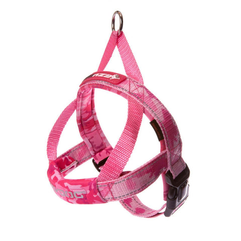 EzyDog Quick Fit Dog Harnesses Pink Camo XXS
