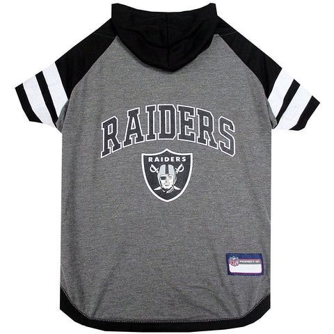 Oakland Raiders Dog Hoodie Shirt-DOG-Pets First-LARGE-Pets Go Here l, m, nfl, pets first, s, sports, sports shirt, test, xl, xs Pets Go Here, petsgohere